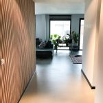 Hallway with slat panels on the wall from WoodUpp