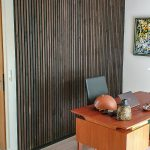 Rustic Smoked Oak acoustical sound dampening panels
