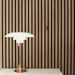 Lamp and Rustic Natural Oak Akupanel