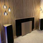 Living room with Akupanel Rustic Natural Oak
